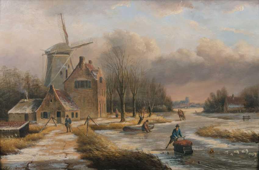 Dutch Winter Landscape. Oene Romkes de Jongh - photo 1