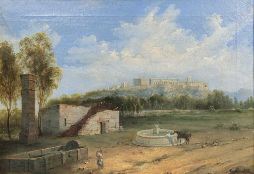 Mexican landscape with the Palace. Manuel Serrano - photo 1