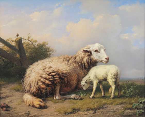 Lamb and mother sheep. Eugène Verboeckhoven - photo 1