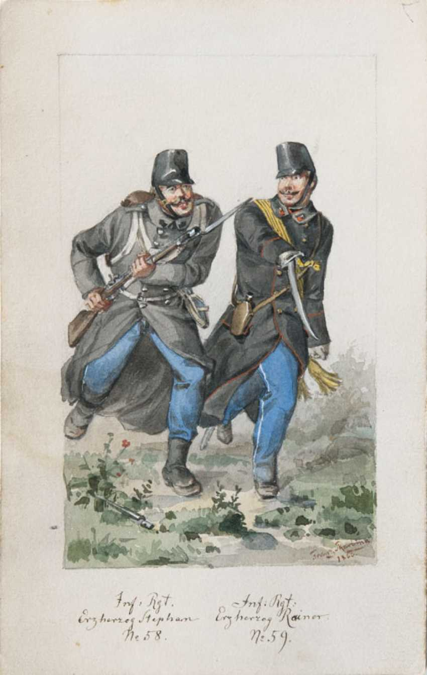 Pair of counterparts: soldiers and generals in Uniform. Franz Skarbina - photo 1