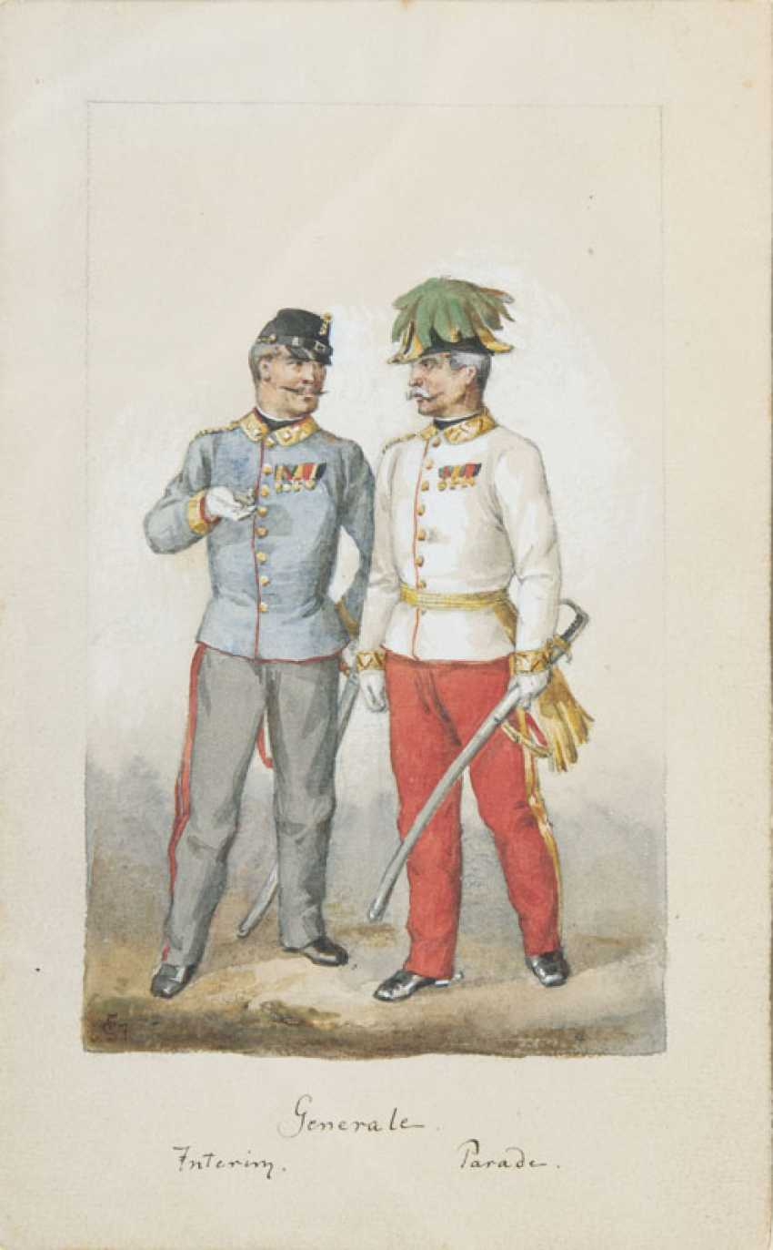 Pair of counterparts: soldiers and generals in Uniform. Franz Skarbina - photo 2