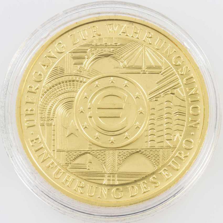 BRD/GOLD - 200 Euro 2002, 1 Unze Gold, original Etui
