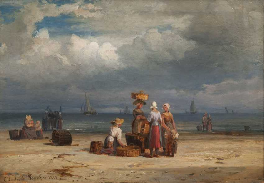 Fishermen's wives on the beach of Scheveningen. Carl Frederik Sörensen - photo 1