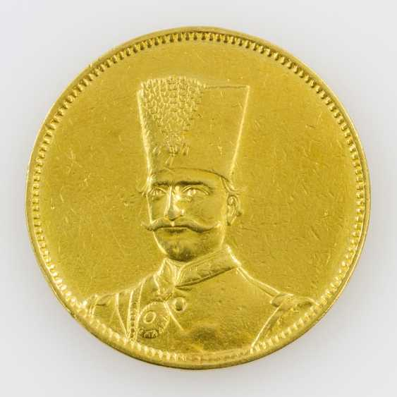 Iran/Gold - 10 Tomans 1880, Nasredin - photo 1