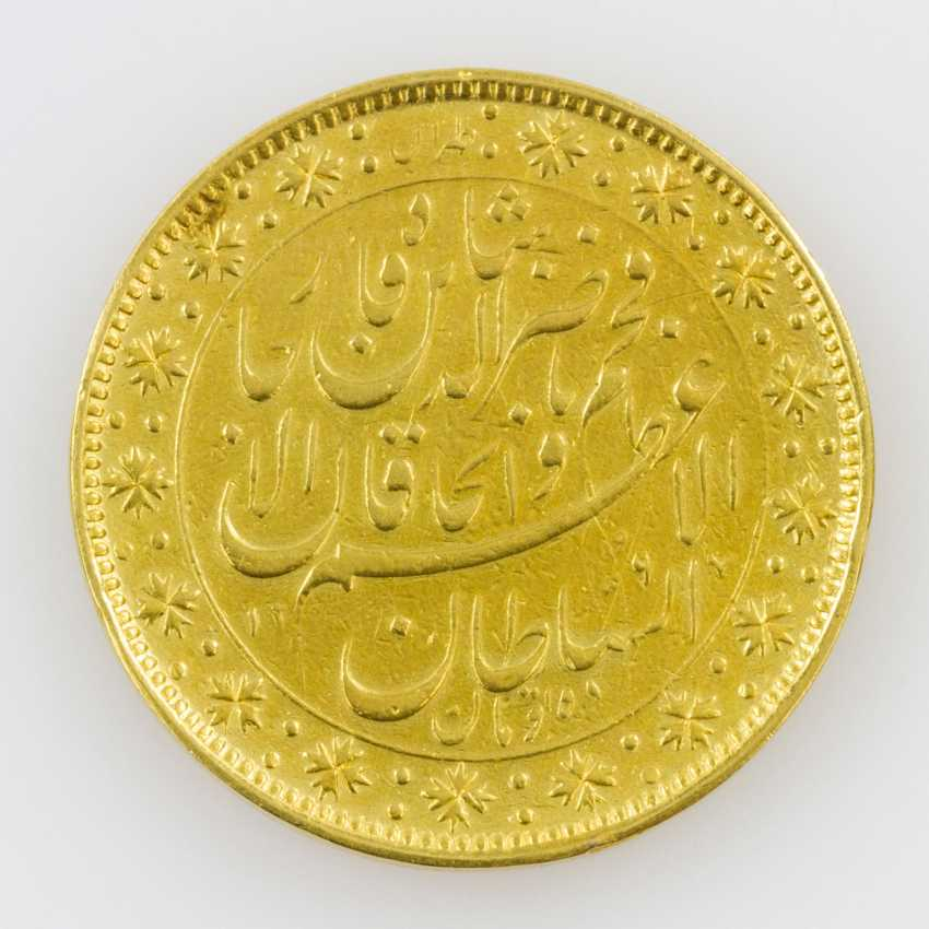 Iran/Gold - 10 Tomans 1880, Nasredin - photo 2