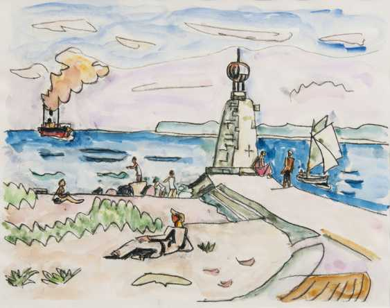Port entrance Beacon and bathers. Ivo Hauptmann - photo 1