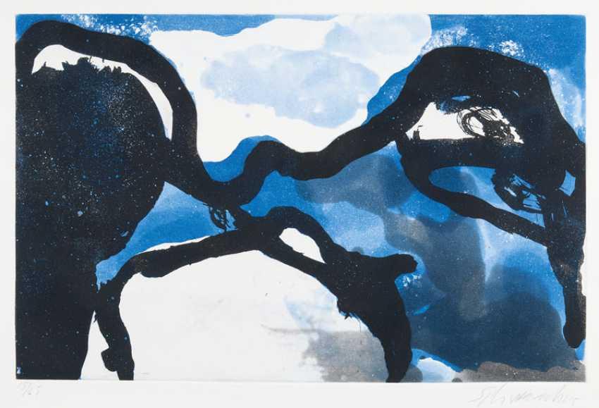Composition in Blue. Emil Schumacher - photo 1