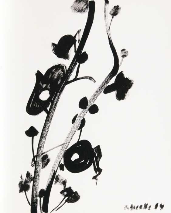 Cherry blossoms branch. Siegward Sprotte - photo 1