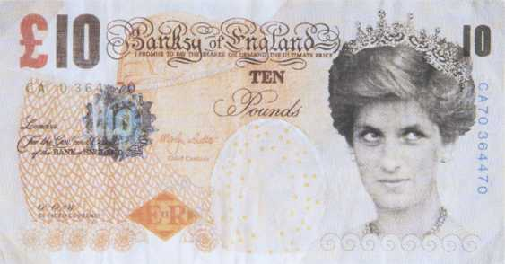 Difaced Tenner - Ten pound Note with a portrait of Princess Diana Banksy - photo 1