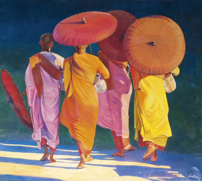 Yellow Umbrellas. Aung - photo 1