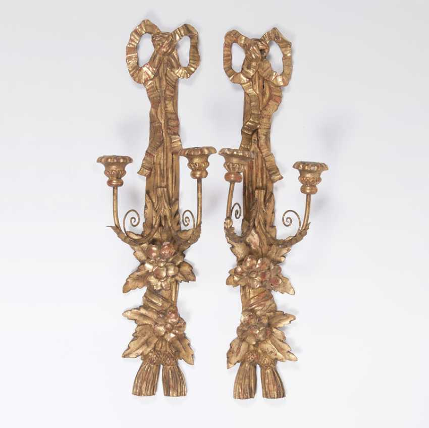 Pair of wall appliques in the Louis XVI style - photo 1
