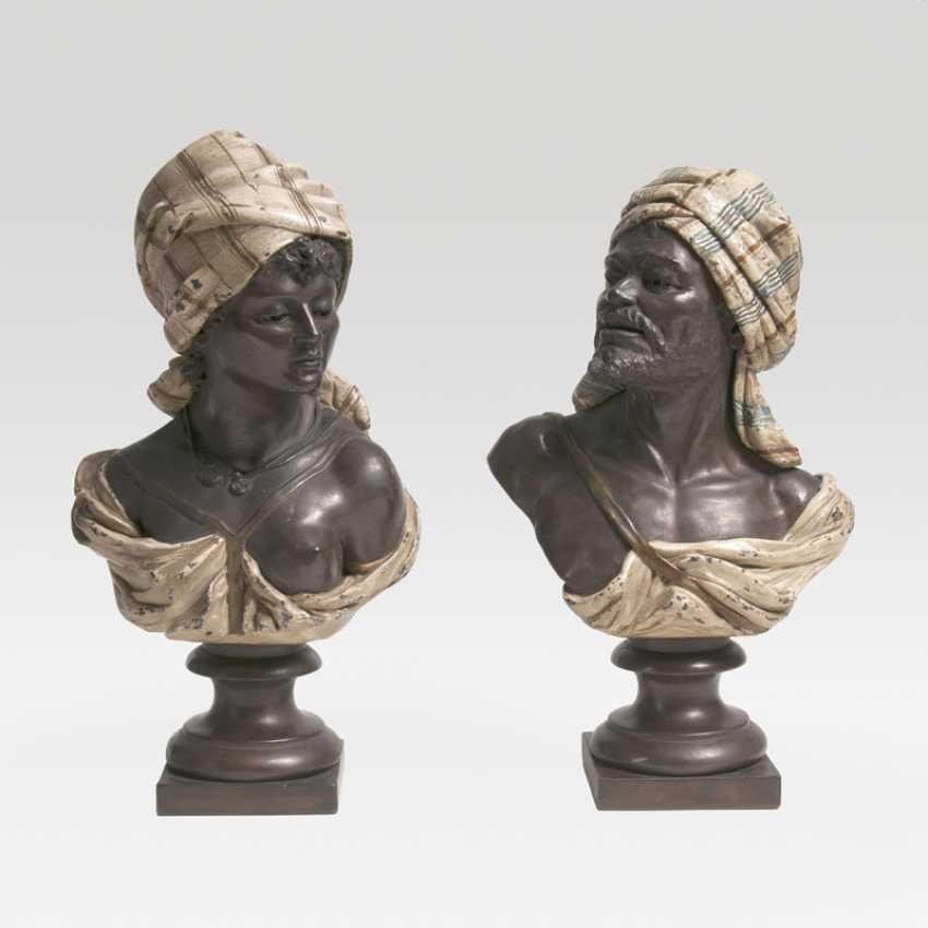 Pair of busts of 'North Africans and North African'. Wilhelm Christian Andreas Giesecke - photo 1