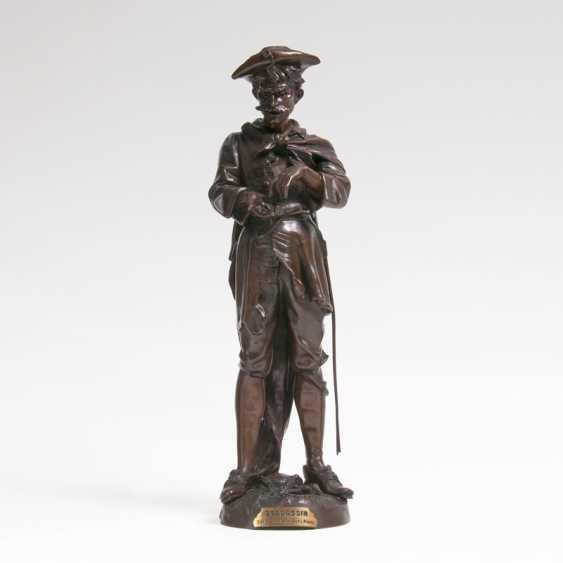 Bronze Sculpture 'Spadassin'. Ernest Justin Ferrand - photo 1