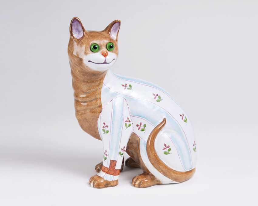 Sitzende Katze mit Delivered. Emile Gallé - photo 1
