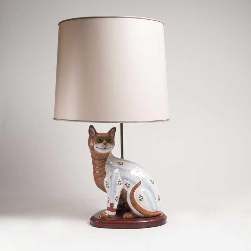 Sitzende Katze mit Delivered. Emile Gallé - photo 2