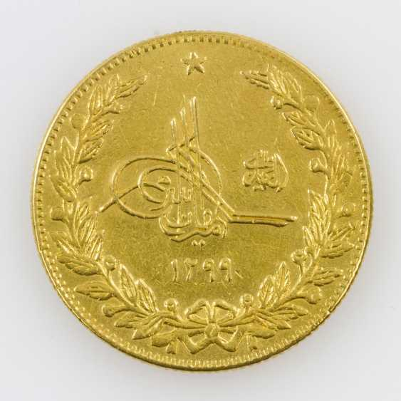 Afghanistan/Gold - 5 Amani 1920, Amanullah, ss., Henkelspur