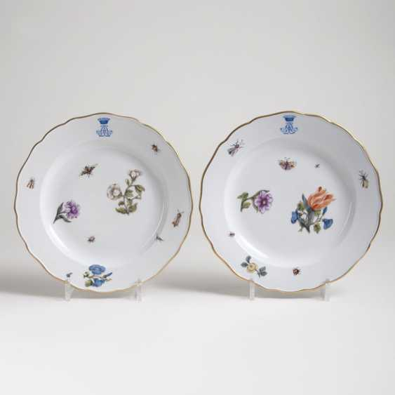 Few of the monogram-plate with flowers and insects - photo 1