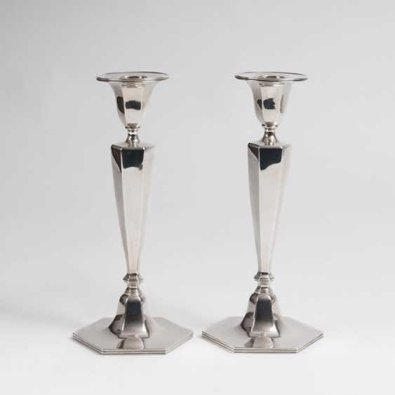 Pair of elegant candlesticks Tiffany & co., gegründet1853 in New York - photo 1
