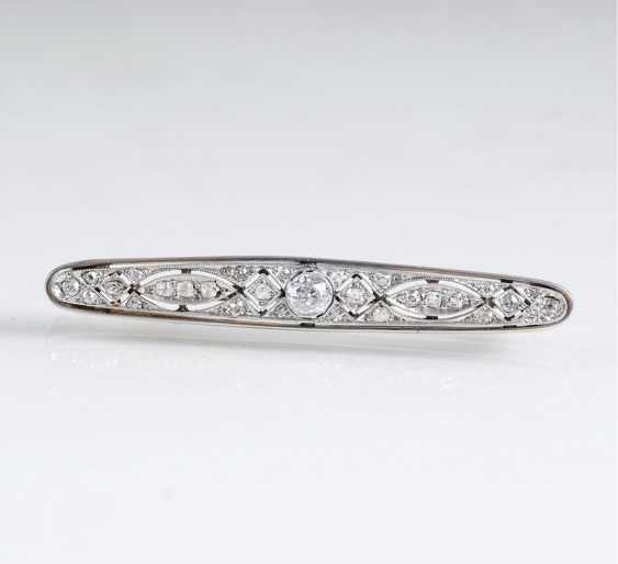 Art Deco Diamant-Brosche - photo 1