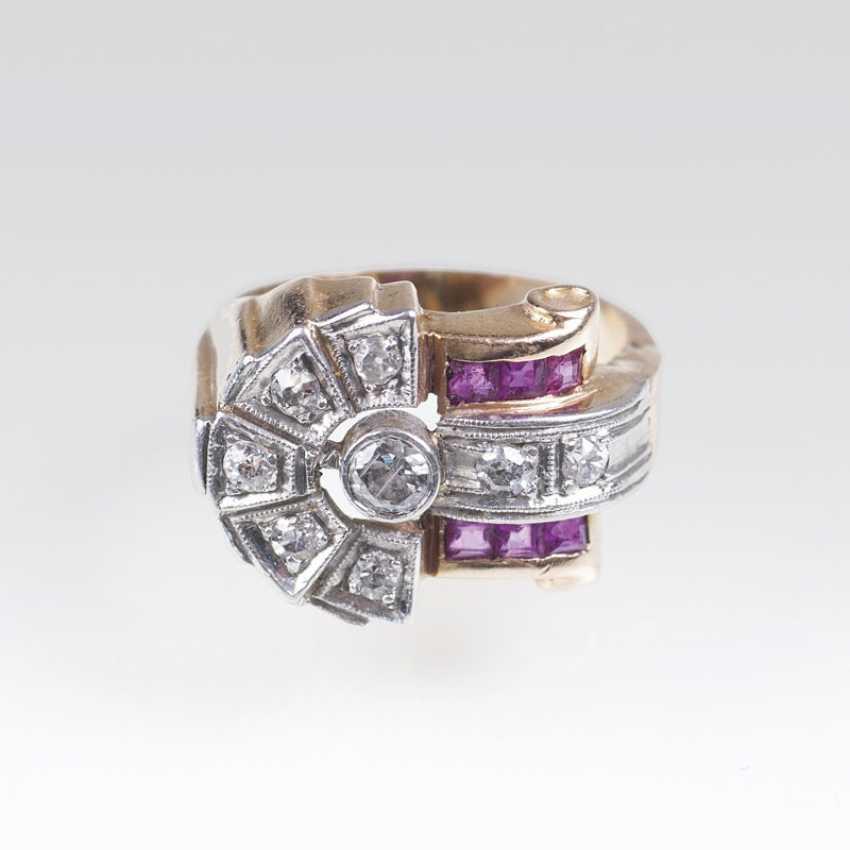 Art Deco Rubin-Diamant-Ring - photo 1