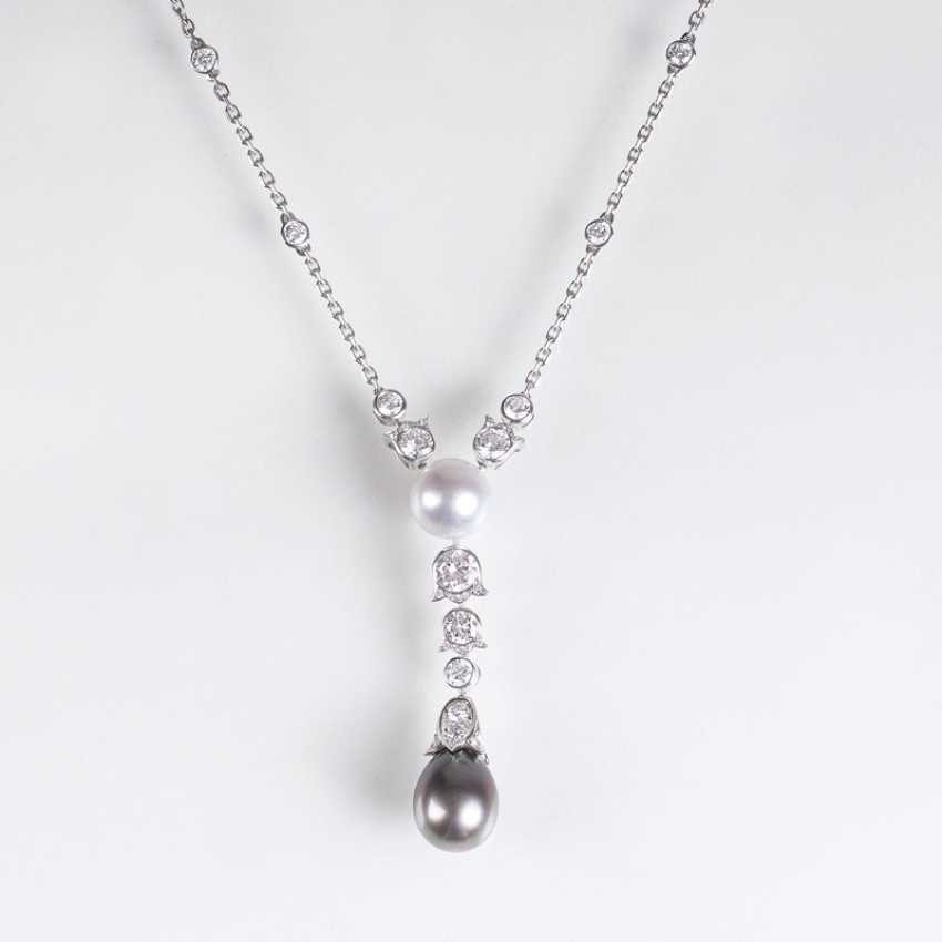 Himalia brilliant necklace with South sea pearls, gegründet1847 in Paris - photo 1