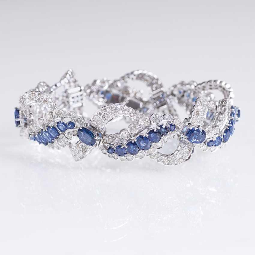 High-Carat Sapphire And Diamond Bracelet - photo 1