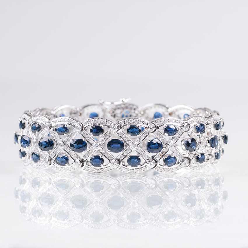 High quality, elegant sapphire and diamond bracelet - photo 1