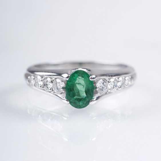 Petite Emerald And Diamond Ring - photo 1