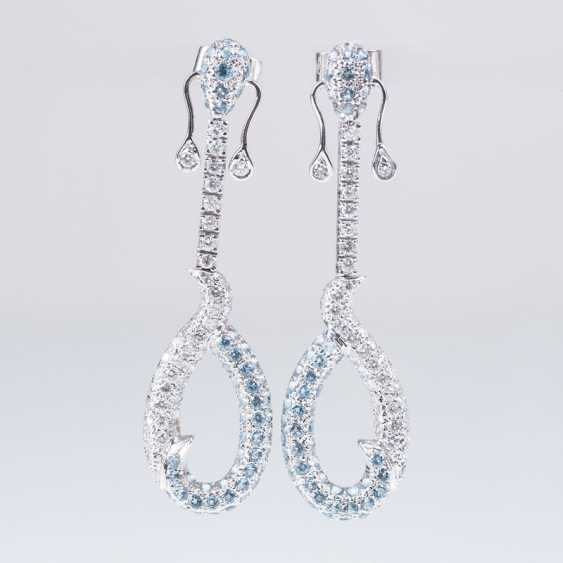 Pair Of Brilliant-Blue-Topaz-Earrings - photo 1
