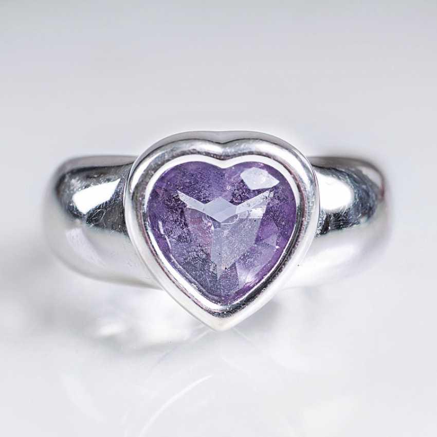 Amethyst Ring in heart shape, gegründet1874 - photo 1