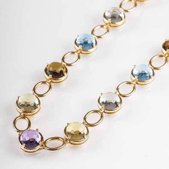Modern, color fine gemstone necklace - photo 1