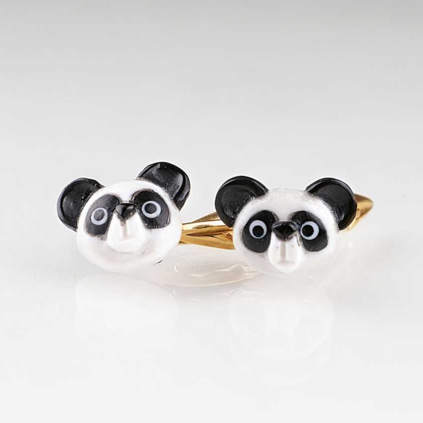 Pair of rare cufflinks 'Panda bear' - photo 1