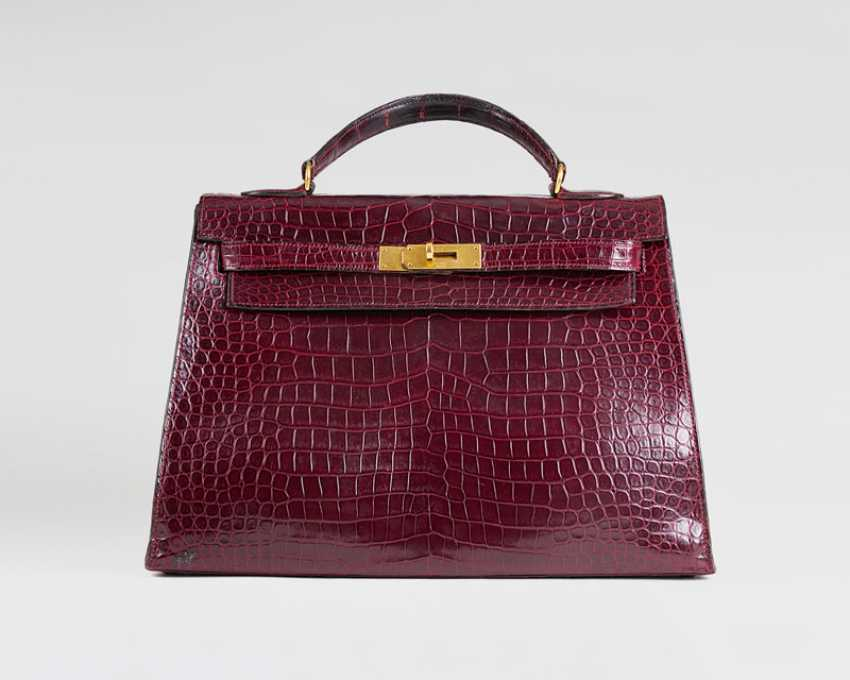 Seltene Vintage 'Kelly Bag 32' Bordeaux - photo 1