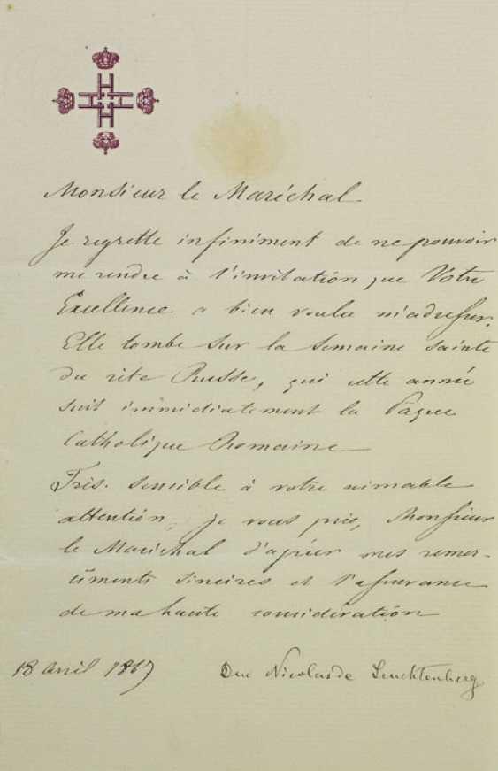 NICOLAS Maximilianovitch,ducdeLeuchtenberg et prince Romanovsky (1843-1891). - photo 1