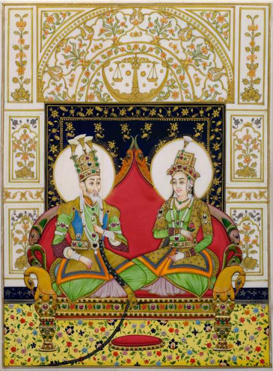 Kostbare Miniatur des Bahadur Shah Zafar II. - photo 1