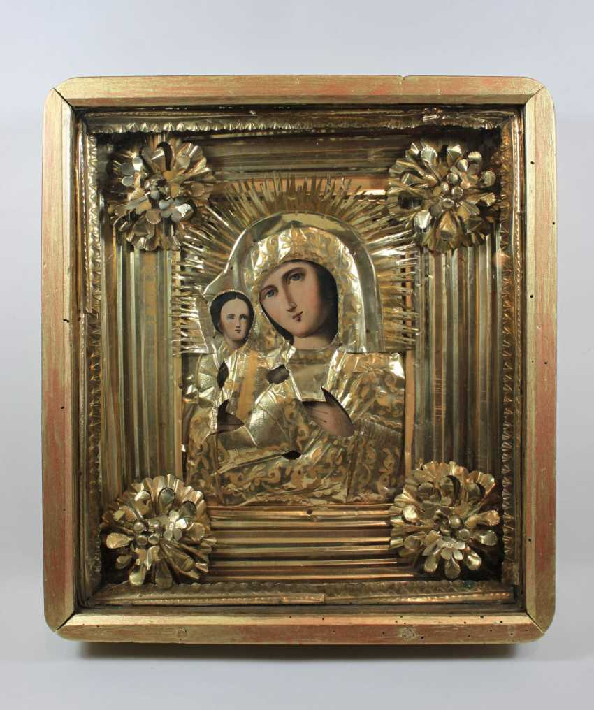 "The mother of God ""Pravorutschiza"" (""right-handed"") icon with Riza - photo 1"