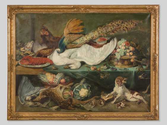 """Still life WITH DOG"", after Frans Snyders, framed and dated - photo 1"