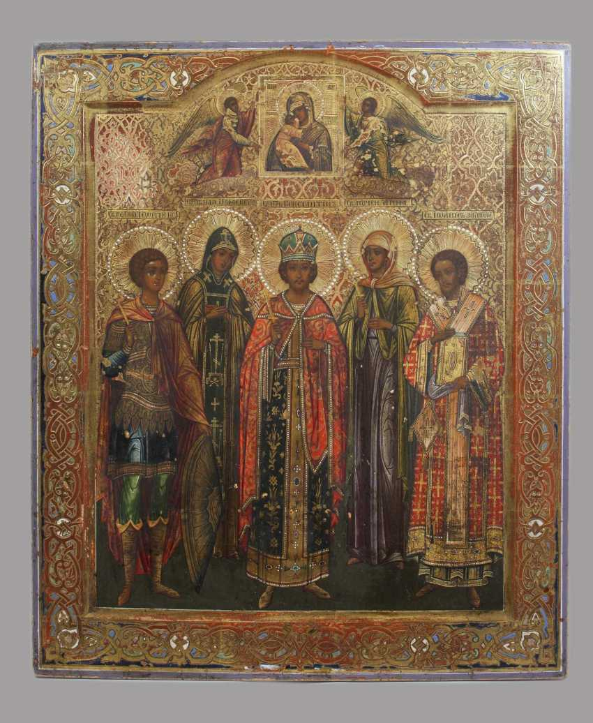 Patronal icon with the five selected, and the mother of God of Vladimir - photo 1