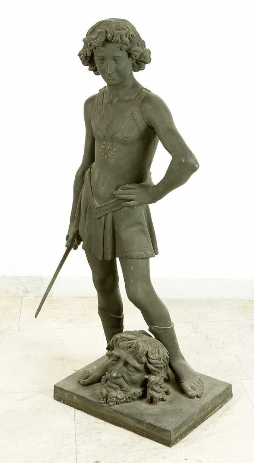 Large bronze sculpture of David with the head of Goliath - photo 2