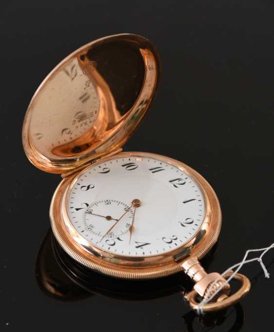 POCKET watch, SAVONETTE, 595 yellow gold, around 1910 - photo 1