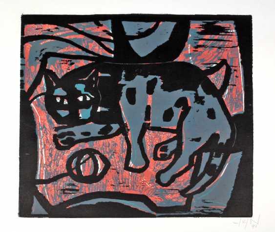 Cat with Ball - Tetzner, Heinz 1994 - photo 1