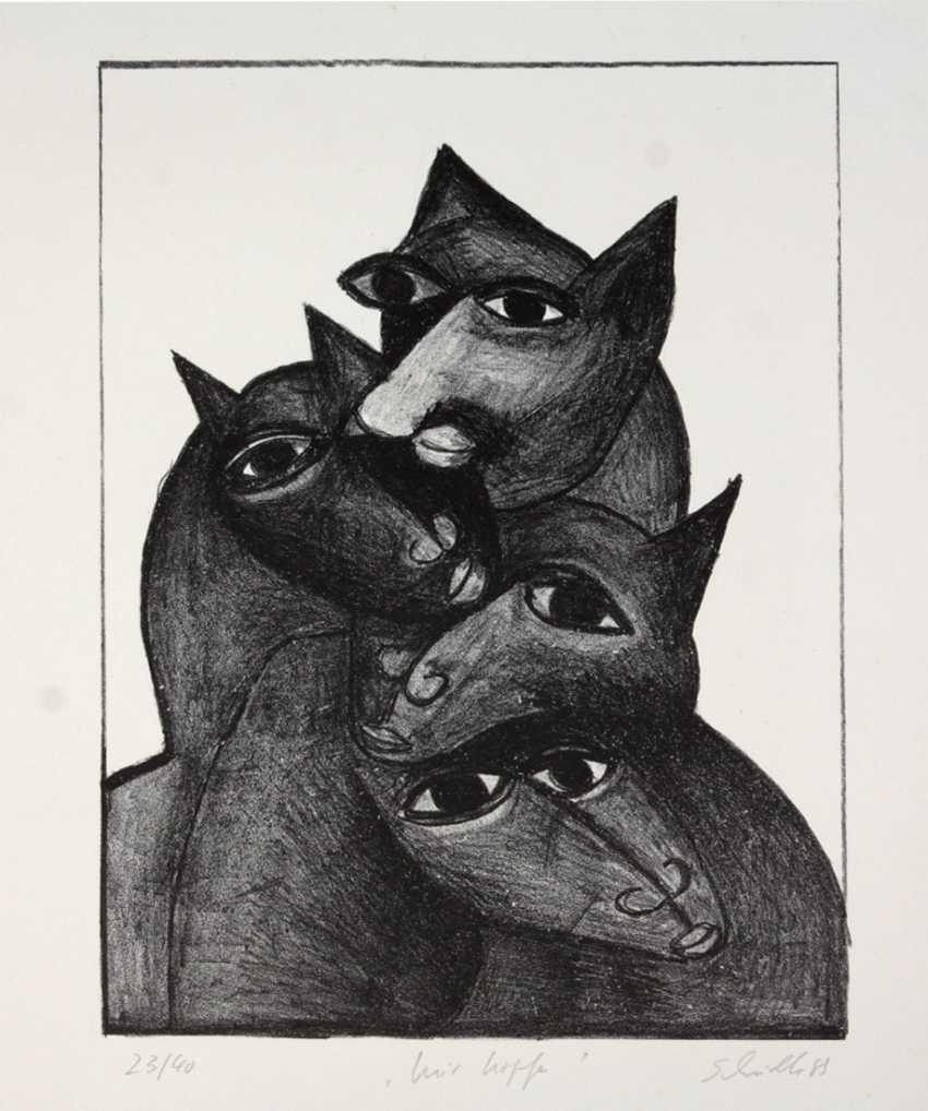Four Heads - Schüller, Andreas 1989 - photo 1