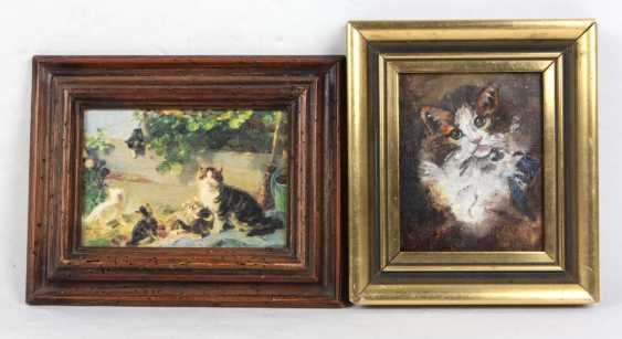 Cat painting - signed with monogram - photo 1