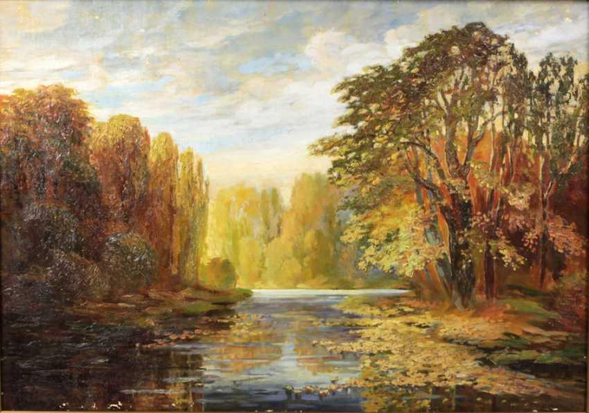Autumn landscape - unknown artist - photo 1