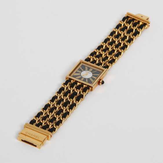 """CHANEL hochelegante Gold-Damenuhr """"MADEMOISELLE"""", Vintage (1989 R.N.33240) Gelbgold18K, L: 16cm; - photo 2"""