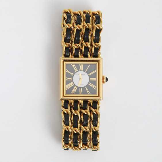 """CHANEL hochelegante Gold-Damenuhr """"MADEMOISELLE"""", Vintage (1989 R.N.33240) Gelbgold18K, L: 16cm; - photo 1"""