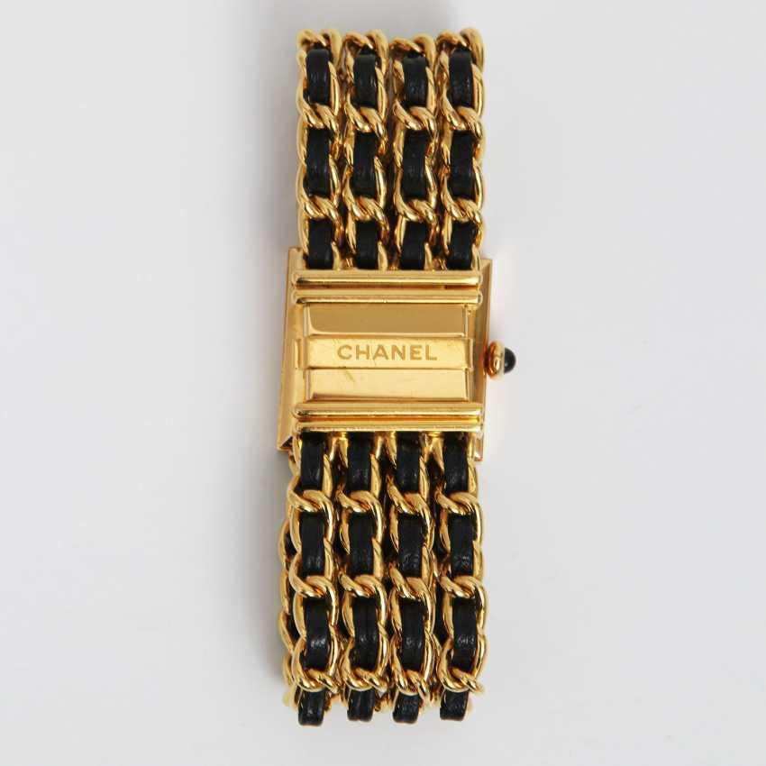 """CHANEL hochelegante Gold-Damenuhr """"MADEMOISELLE"""", Vintage (1989 R.N.33240) Gelbgold18K, L: 16cm; - photo 3"""