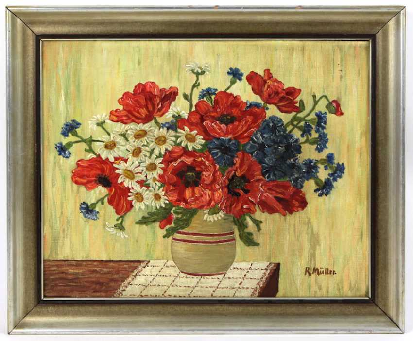 Summer bouquet with poppies - Müller, R. - photo 1