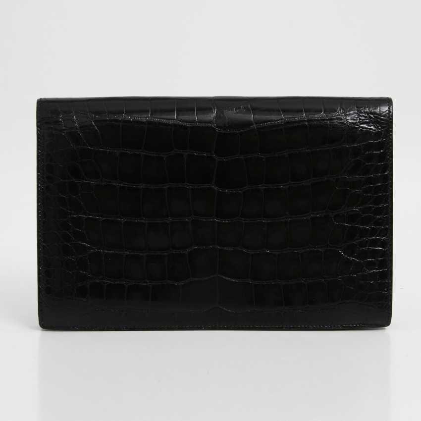 HERMÈS high-elegant crocodile leather Clutch VINTAGE, dimensions 25x16. 5x4. 5cm; - photo 3
