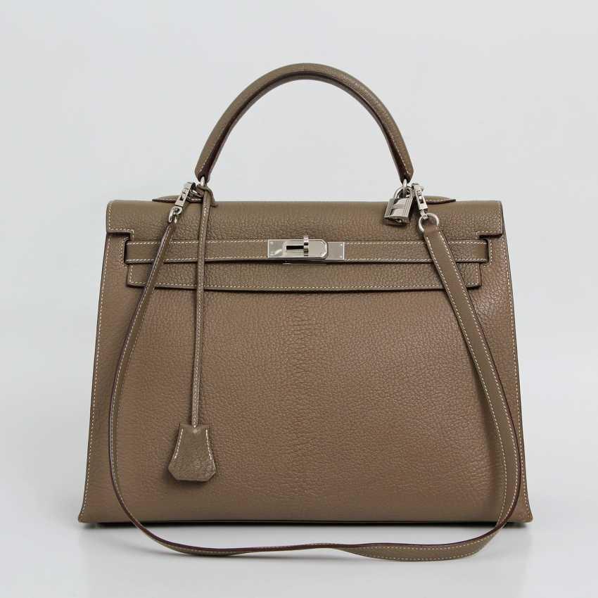 "HERMÈS exclusive Handle/shoulder bag ""SELLIER KELLY BAG 35"", collection 2006. - photo 1"